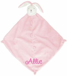 Sweet and charming, machine-washable and cashmere-soft. A Little Bit Of This Cashmere Soft Bunny Blankie. Click the image to get more information about the product, including personalization options, at our online store!