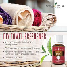 Young Living Essential Oils:  DIY Towel Freshener | WWW.THESAVVYOILER.COM