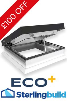 ECO+ Electric flat glass roofilight - one of our best selling products. Don't miss out on this offer as stock is selling out fast.