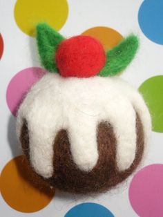 needle felted christmas pudding by loopy lou designs, via Flickr