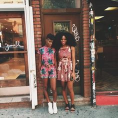 studioafrica:  Asiyami Gold and I in our ankaras made in Nigeria