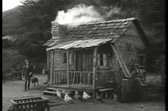 The Beverly Hillbillies, One of the Highest Rated Television shows of All Time, Premiered 50 Years Ago Today Old Cabins, Cabins In The Woods, Rustic Cabins, Abandoned Houses, Old Houses, Tiny Houses, Old Pictures, Old Photos, Vintage Photos