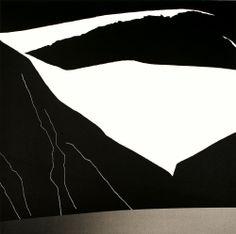 Per Kleiva (Norwegian, b. Høyfjell og fjord [High mountain and fjord] Modern Art, Pop Art, Abstract Art, Tapestry, Fine Art, Black And White, Landscape, Illustration, Nature