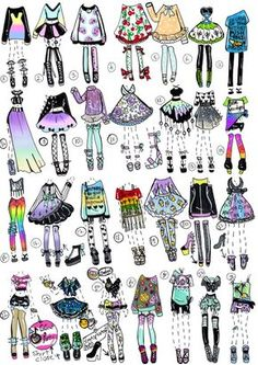 Just as usual some hipster,grunge, rainbow,kawaii-fashion themed outfit adopts . Hipster Grunge, Mode Hipster, Hipster Food, Grunge Look, 90s Grunge, Grunge Style, Soft Grunge, Fashion Design Drawings, Fashion Sketches