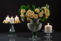 Glass vase & glass candleholders, cake stands and fruit stands - specially handmade for your event or wedding. Fruit Stands, Cake Stands, Candleholders, Candelabra, Special Events, Glass Vase, Wedding Decorations, Handmade, Design