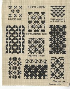 Old pattern charts