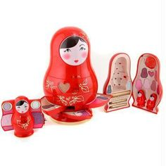 Matryoshka cosmetics case.
