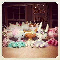 Stuffed Animal Critters Kawaii Miniature Cat Piggy by missrubysue