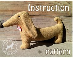 PDF sewing pattern toy dachshund Alex/ Soft,safe toy for a child/ Simple and easy to sew/ PDF Pattern Toy dachshund/Instant Download/pattern