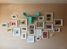 How perfect does The Tiffany look in the midst of all of these gorgeous photos? We love this frame wall!