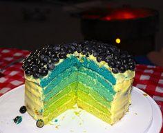 Smart-Bottom Enterprises: Lemon Blueberry Rainbow Cake
