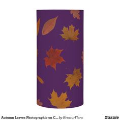 Autumn Leaves Photographic on Custom Color Led candle