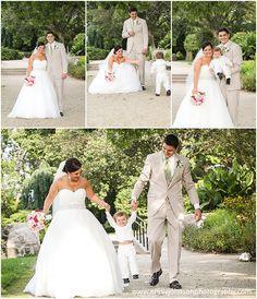 SEVEN SEAS, HARTLAND, WEDDING PHOTOS   bride and groom, fun pictures with son, kid, baby