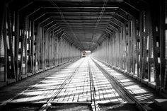 One of Warsaw tram bridge
