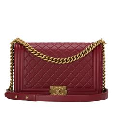 Chanel New Medium Boy bag of dark red lambskin leather with antique gold hardware. AVAILABLE NOW For purchase inquiries, Please Contact: Email: info@madisonavenuecouture.com I Call (212) 207-4572 I WhatsApp (917) 391-2281 Direct Message on Instagram: @madisonavenuecouture Guaranteed 100% Authentic | Worldwide Shipping | Bank Transfer or Credit Card