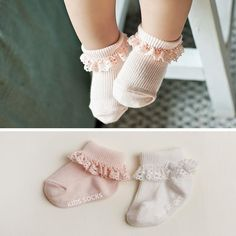 1.58$  Buy here - Sweet Princess Baby Girls Socks Cotton Ruffles Ankle Length Baby Calcetines Pink/White for 0-4 Years 1 Pair   #aliexpress