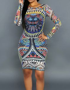 Product Code: TQD0370235 Package included: one piece dress Gender: Female Age Group: Adult Color:blue black Pattern: african print Material: polyester fibre and mesh Get stunning looking with this sty
