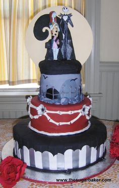 I dont know that i would go so far as to make it my wedding cake theme but i loooove nightmare before christmas