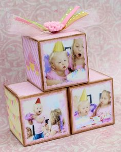 Personalized Vintage Pink First Birthday Photo by januaryhart, $36.00