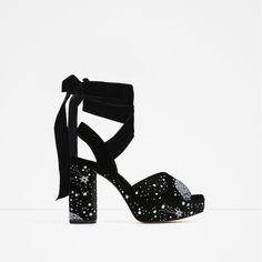 Image 2 of VELVET RIBBON SANDALS from Zara