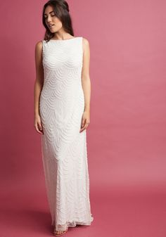 Graceful Grandeur Maxi Dress in Ivory | ModCloth