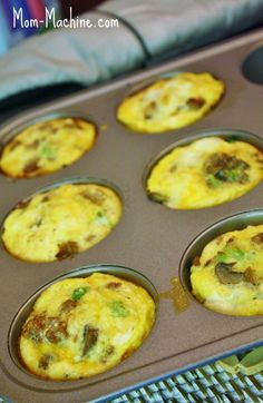 """Sausage, Egg, and Veggie """"muffins""""- eat alone for low carb or put on an English muffin for a quick breakfast sandwich!"""