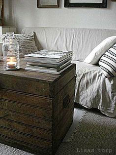 LOVE old trunks used as coffee tables!