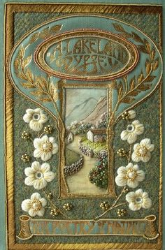 Needlework Retreat - I need to go on one of these! Book Cover Art, Book Cover Design, Book Art, Vintage Book Covers, Vintage Books, Old Books, Antique Books, Art Nouveau, Beautiful Book Covers