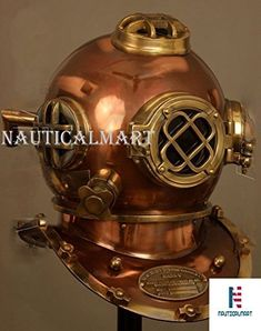 Collectible Full Size Nautical Iron Divers Nickel Plated Diving Helmet Mark Iv Selling Well All Over The World Maritime