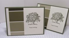 hand crafted card from Personally Yours ... paint chip inspiration ... band of neutrals ...