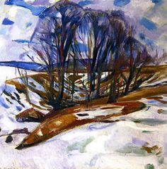 Thawing Snow, Edvard Munch - 1919