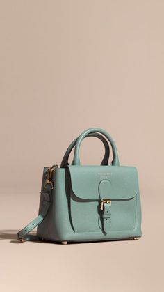 2fb009ec37 Smokey green The Small Saddle Bag in Grainy Bonded Leather Smokey Green -  Image… Pochette