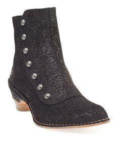 Fantasy Black Mazuela Ankle Boot - victorian/steampunk