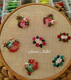 New Free french knot Embroidery Designs Popular Embroidering is actually a attractive approach to illuminate your own home as well as an excellent activity f Handkerchief Embroidery, Bullion Embroidery, French Knot Embroidery, Hand Embroidery Videos, Hand Work Embroidery, Simple Embroidery, Hand Embroidery Patterns, Embroidery Art, Embroidery Stitches