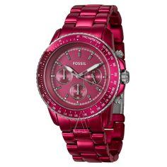 Fossil Women's Stella Watch $58 PINK!!!