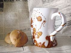 hand painted coffee mug by CraftUnikat