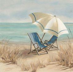 """Summer Vacation II"" - Beach and Coastal Views posters and prints available at Barewalls.com"