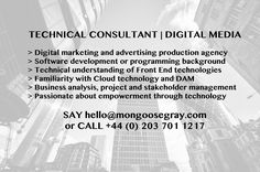 #technical #consultant #digital #media #frontend #web #cloud #DAM #mongoosegray #MGTJOBS #jobs
