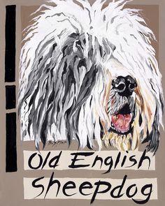 Old English Sheepdog Art - shop by theme - Decor Shop