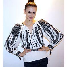 roumanian peasant blouse , roumanian folk fashion shop www. Folk Fashion, Peasant Blouse, Luxury Fashion, Costumes, Blazer, My Love, Jackets, Fashion Design, Shopping