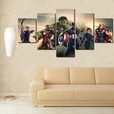 The Avengers Squad 5 Panel Canvas Wall Art Print Canvas Frame, Canvas Wall Art, Wall Art Prints, Framed Prints, Canvas Prints, Avengers, Trending Outfits, Gotham, Business Ideas