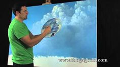 How to Paint Clouds in a Room - Mural Joe - YouTube