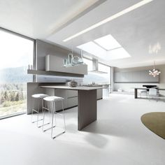 PaperStone® Light Grey doors and top. #ArritalCucine #Kculture #modern #kitchen #Ak04 #sustainability