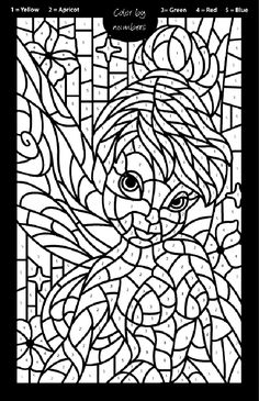 Disney Fairies Tinkerbell Mosaic Coloring Page