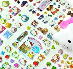 Hello Kitty Metal Stickers