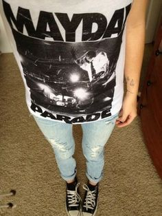 cute hipster clothes | ... cute hipster clothes fashion denim ripped jeans adorable mayday parade