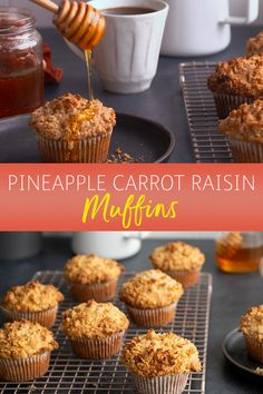 Pineapple Carrot Raisin Muffins bring together an unexpected flavor mix for a tasty surprise. Pair them with coffee, or afternoon tea, for a quick snack between everyday errands.