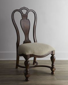 """Two """"Agatha"""" Wood Side Chairs - Horchow"""