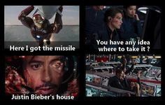 Oh yeah! That's what I'm talking about, Tony!!! lol XD funny avengers picture Tony Stark Iron Man