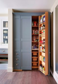 Myland's kitchen pantry from Houzz Sloane Square No.92 External Wall Cabinet. Archway House No.106 External Base Cabinets.